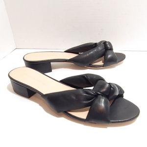 Loeffler Randall black leather block heels